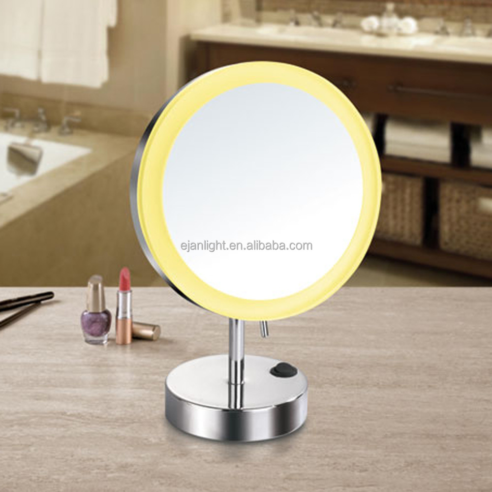 Desk Battery Led Lighted Cosmetic Mirror Makeup Mirror