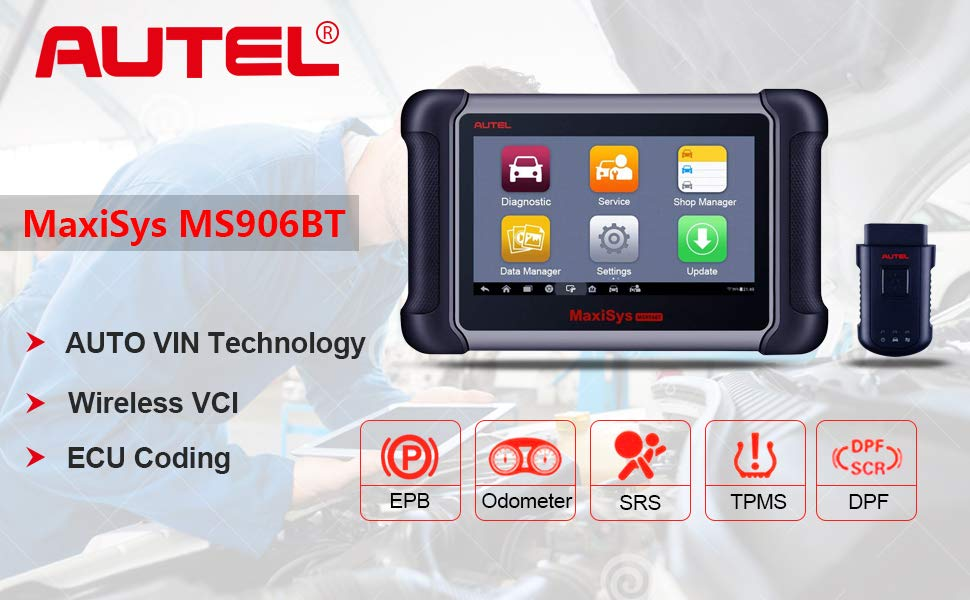 Autel MaxiSYS MS906BT Car Diagnostic Tool OBDII Obd2 Universal Auto Scan Tool Update Version of Maxisys MS906 MaxiDAS DS708
