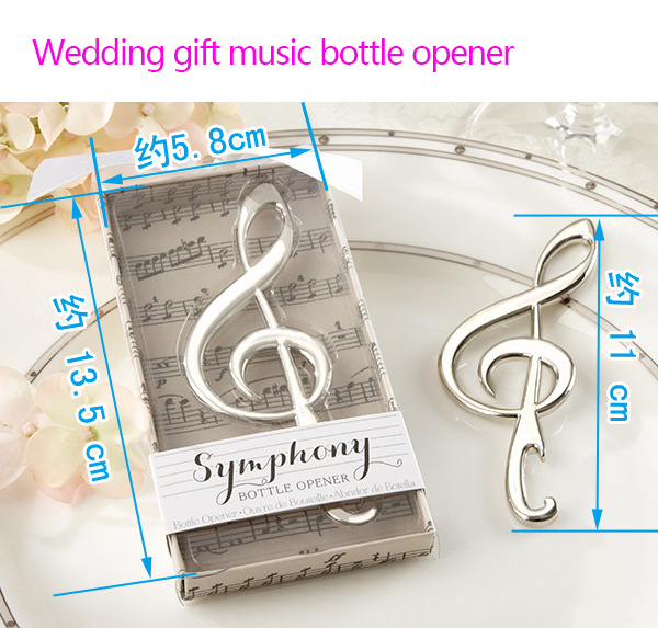 Wedding Favor Supplies music Bottle Opener For You Romantic Gift Opener With Tassel