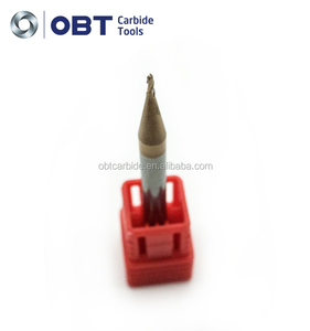OBT-Solid Carbide 2/4 Flute conical end mills for wood cutting/carbide 2 flute spiral cutter bit taper