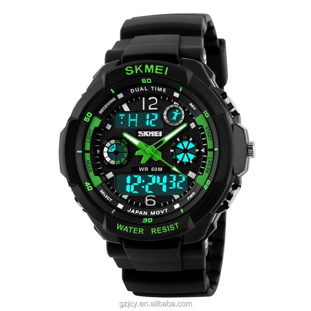 0964b87586c 2017 skmei 0931 relógio do esporte digital de instruções analógico digital  led relógio para homens relojes
