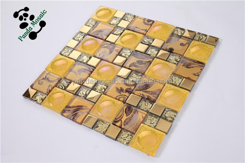 Smp24 backsplash cucina piastrelle adesivi decorativi da parete oro
