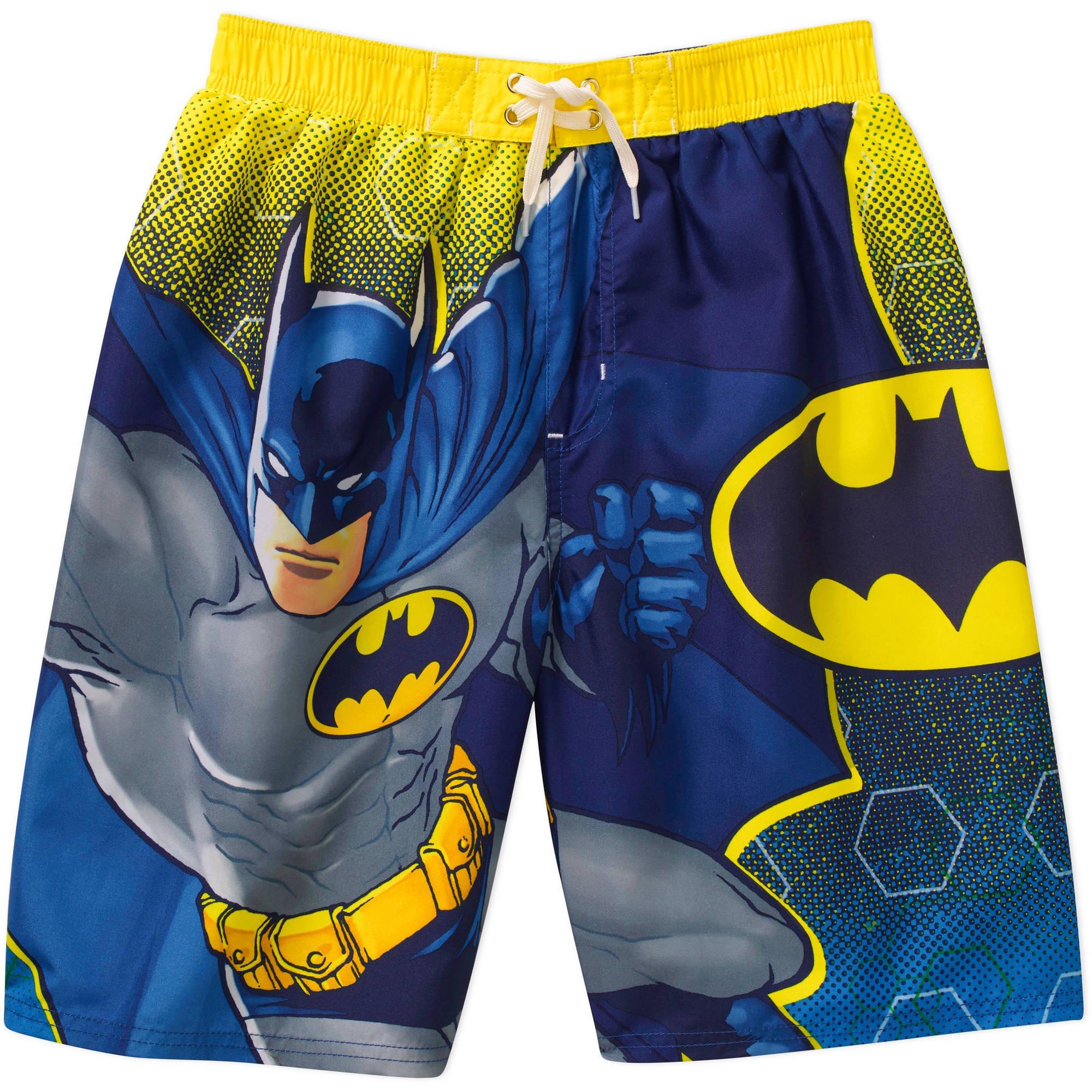 c6a27d2393 Get Quotations · DC Comics Batman Little Boy Swim Shorts Trunks Size 4/5