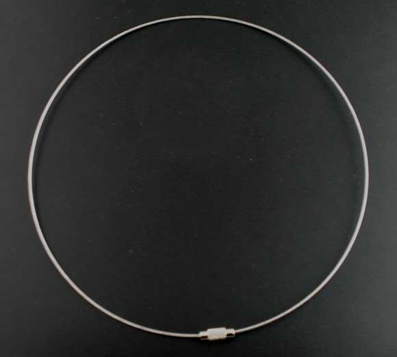 Горячая распродажа! 10 шт. стальной проволоки Chocker ожерелья для женщин винт застежка жевательная резинка 18