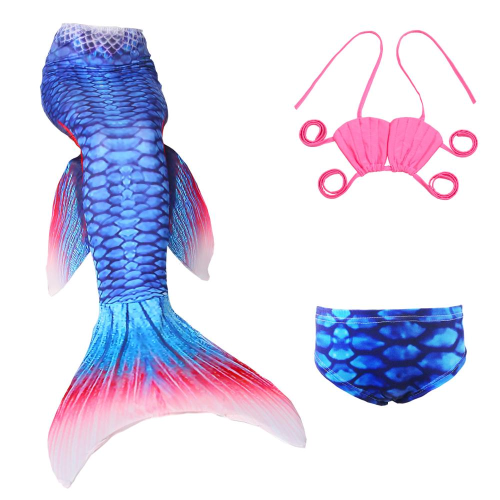 Considerate Girl Kids Cosplay Swimmable Mermaid Tails Costumes Swimming Mermaid Tail With Monofin Flipper Bikini Adult For Children Swimsuit With The Best Service Mother & Kids