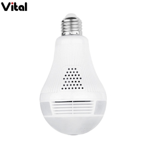 The newest HD 2.0MP 1080P wireless wifi light bulb camera 360 view vr ip panoramic fisheye night vision hidden camera bulb