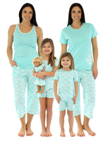 OEM Family Matching Clothing Mommy & Me Matching Pjs 100% Cotton Cute Pajama Sets Matching Family Pajamas For Summer 2017
