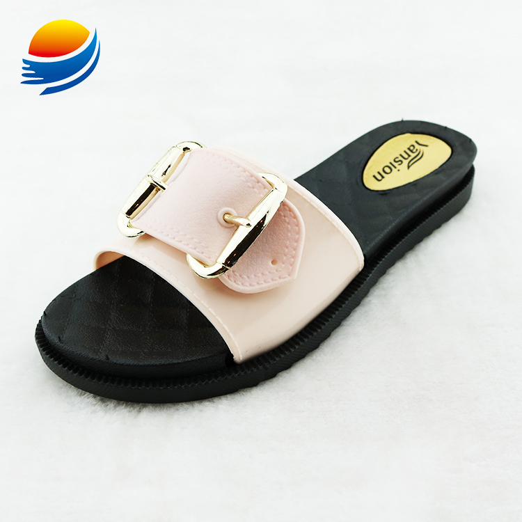 Fashion Buckle Slides for Sale Sandalias Mujer Female Slippers 6J82+1W