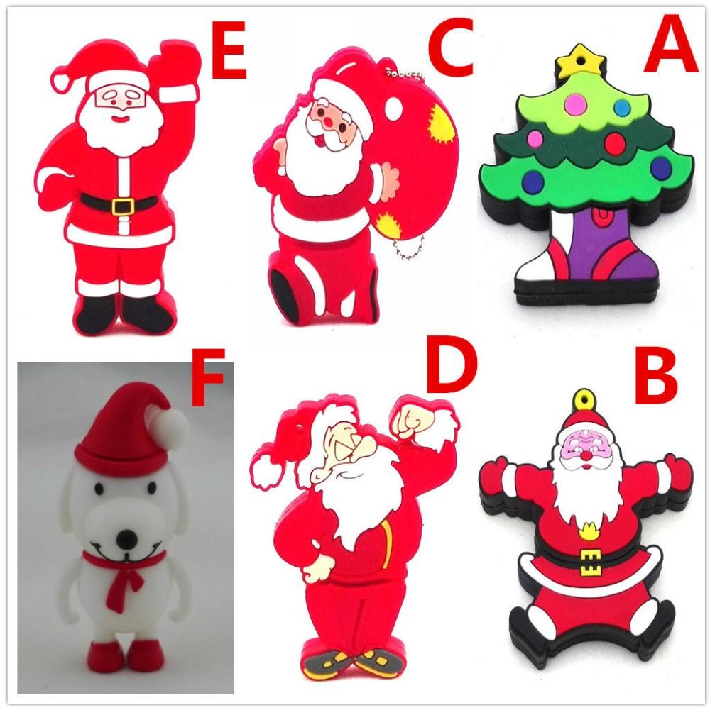64 Gb Cartoon Weihnachten Weihnachtsmann Weihnachtsbaum Weißen Hund ...