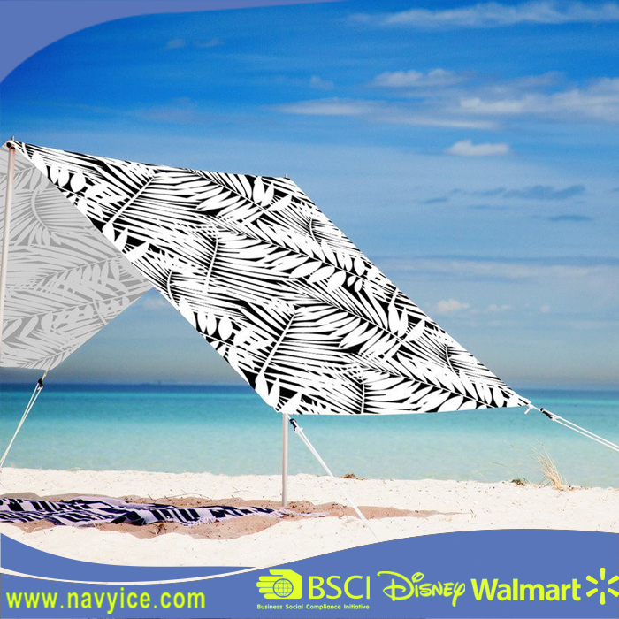 China Custom Outdoor Canvas Beach Canopies Sun Shade Tent Shelters 100% Cotton Canvas Beach Tent