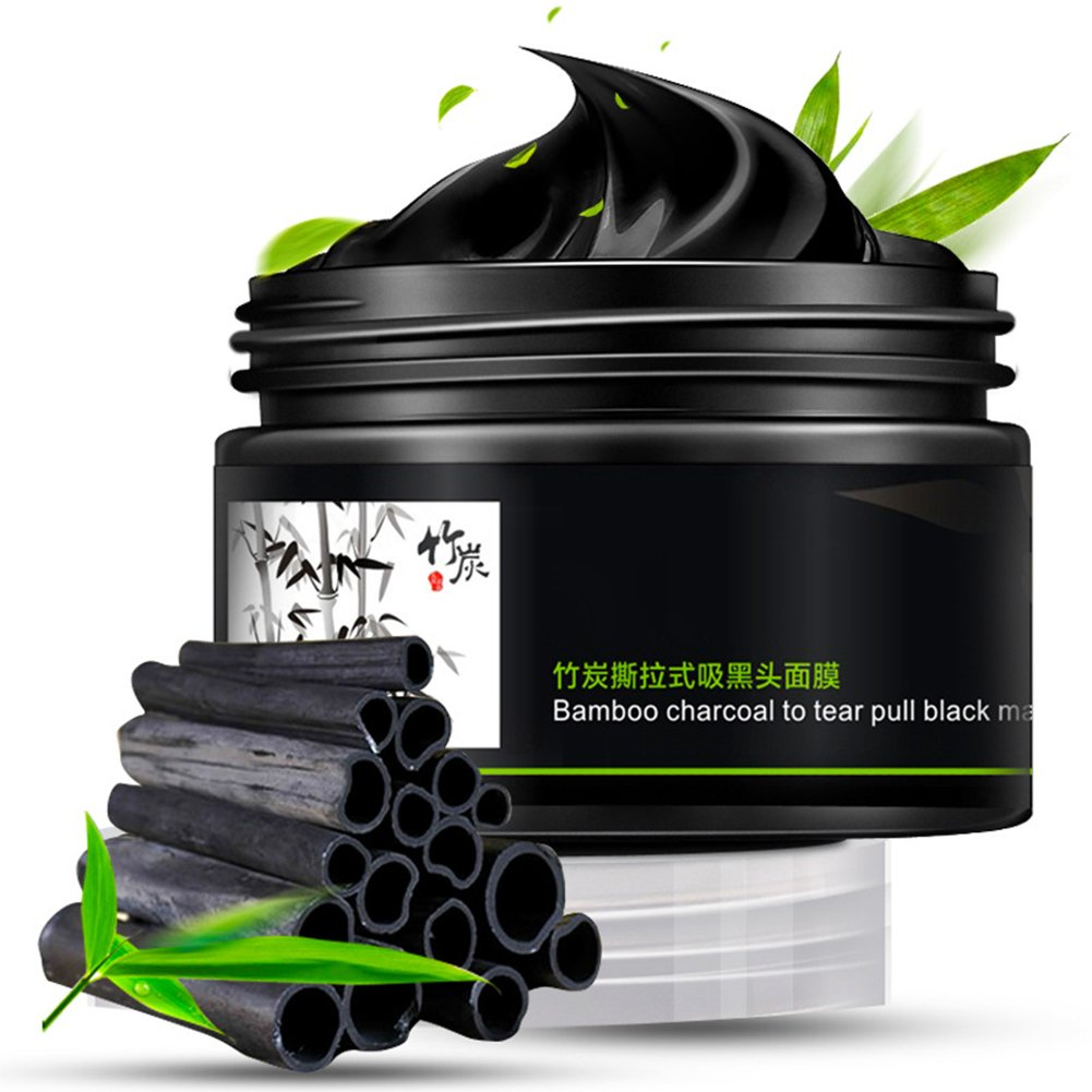 LYNN CAPANZANO 100ml Blackhead Remover Bamboo Charcoal Mud Face Mask Deep Clean Natural Face Mask