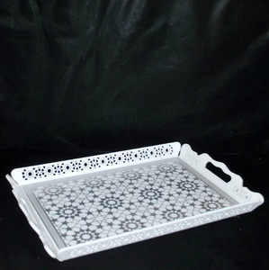 customize hotel using acrylic material made serving trays