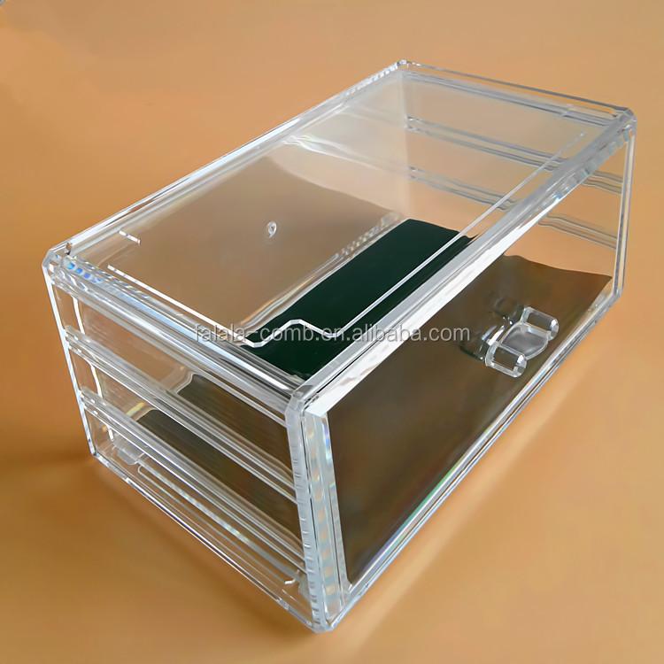Acrylic Jewelry Cosmetic Storage Display Boxes Acrylic Jewelry