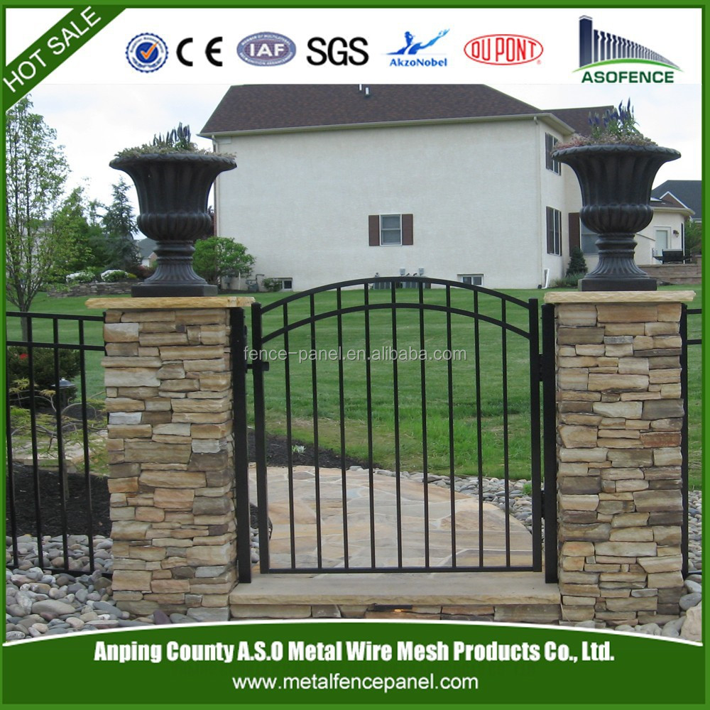 New product best selling wrought iron fence with ornametal spear