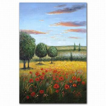 Haute Resolution Magnifique Paysage Naturel Arbre Paysage Peinture A