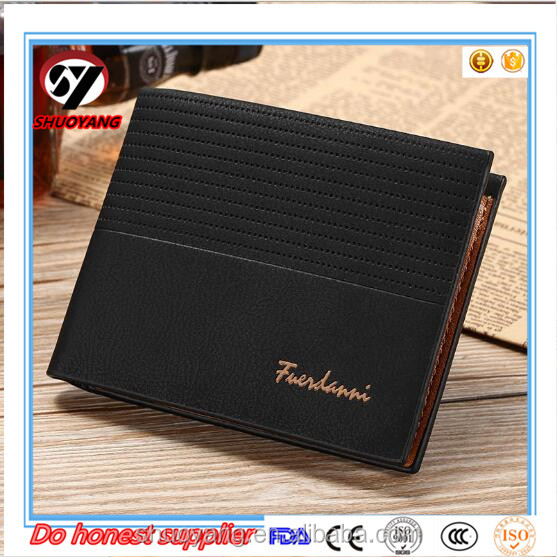 Shuoyang Best Selling Products New Designer Durable Cow Hide Mens Leather Wallets And Purse