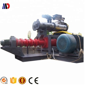 Low Power Consumption Dog Food Extrusion Machine / Cold Feed Rubber Extruder