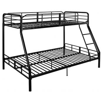 Oem Modern Double Futon Black Metal Bunk Bed - Buy Double Futon ...