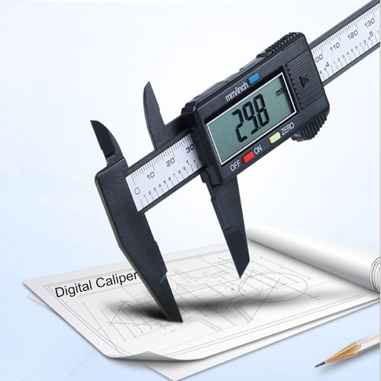 0-6 inç elektronik siyah renk dijital sürmeli kumpas 0-100-150mm aralığı dijital kumpas fiyat şeffaf LCD ekran
