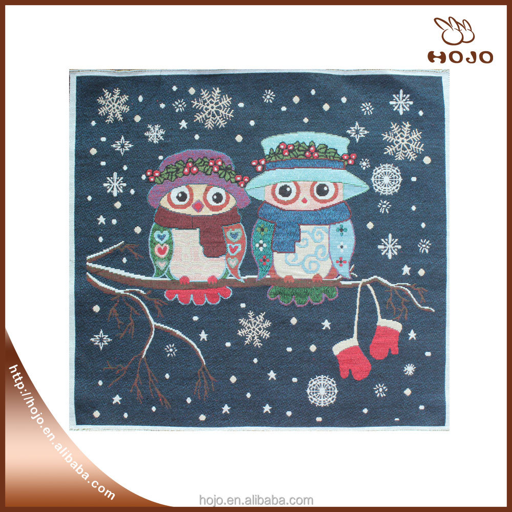 simple kite and owl pattern high quality jacquard fabric cotton fabric cushion cover hand bag material