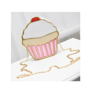 JUNYUAN Ice Cream Cake Cartoon Cute Pink Lady Shoulder Hand Bag