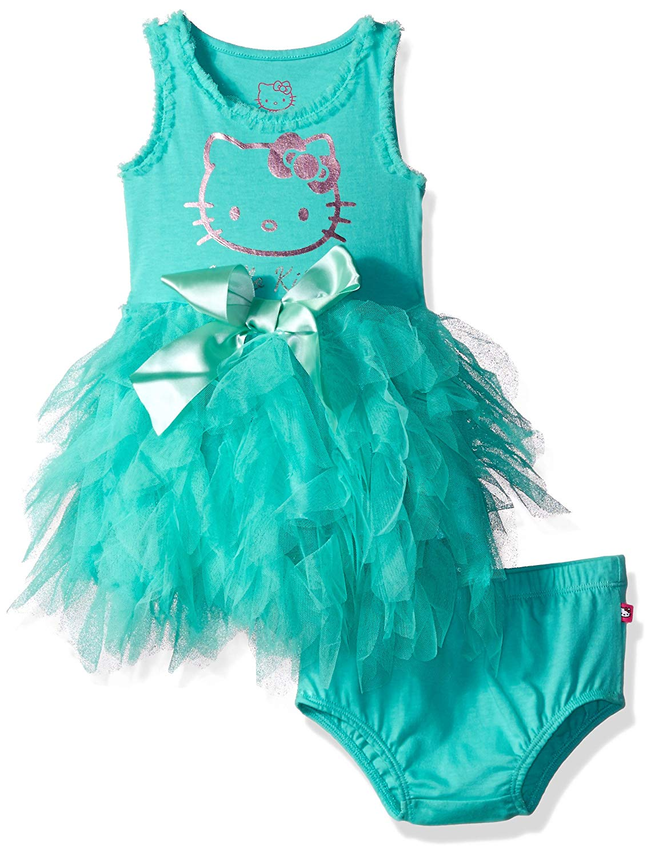 43e27a94a146a Get Quotations · Hello Kitty Little Girls  Embellished Tutu Dress