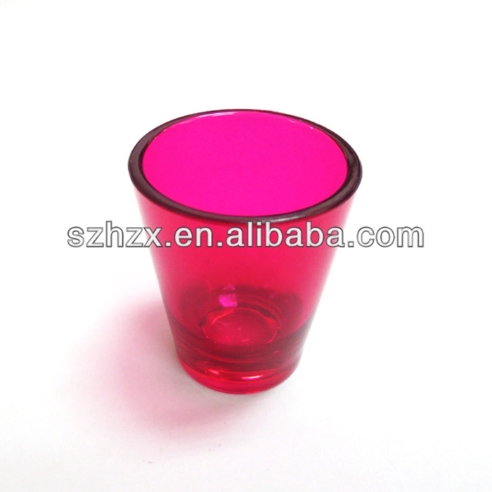 clear colorful mini plastic BPA free shot cup