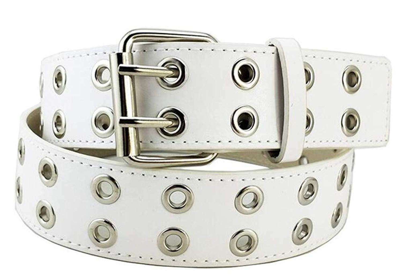 5095a9a08cf2 Get Quotations · WEI FEI Men s fashion wild punk double pin buckle eye belt  belt belt