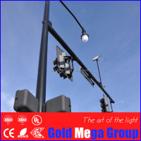 6.5m Q345 Q235 hot dip galvanized traffic light post and cctv camera post price