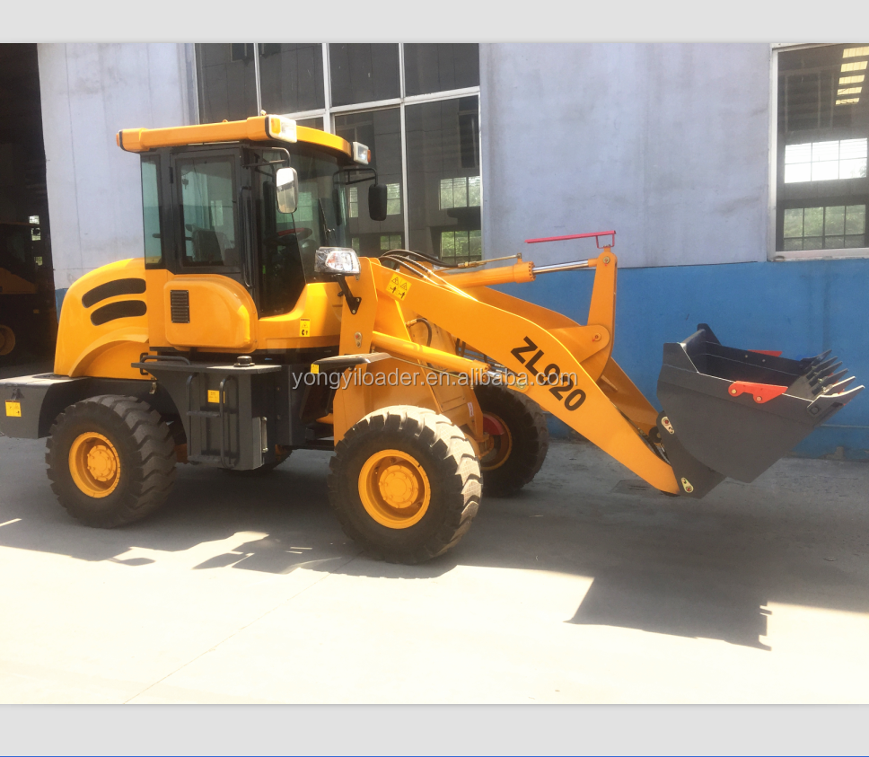 2 tonelada de carga zl920 frente novo novo articulado hidráulico mini-carregador de roda preço
