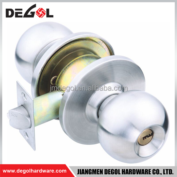 Made In China Customize Cheap Best Brand Italy Bathroom 304/201sss  Cylindrical Ball Door Knob