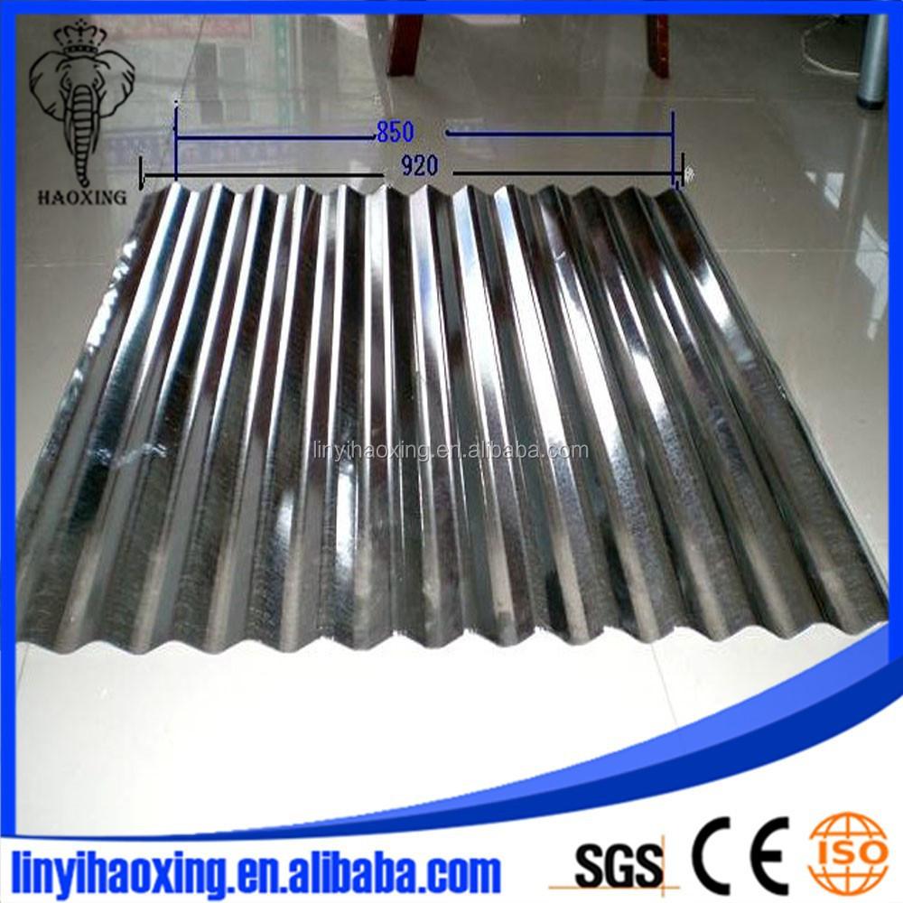 Nouvelle type de zinc galvanis feuille de couverture de for Feuille de zinc prix