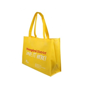 Promotion Use ECO Shopping Bag Non Woven Cloth Fabric Silk Printing Custom Logo Advertising Bag