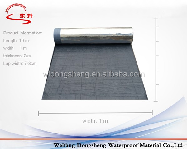 Self Adhesive Asphalt Roll Roofing With Aluminum Surface