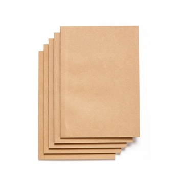 Custom logo kraft paper blank inner pages A5 Notebook