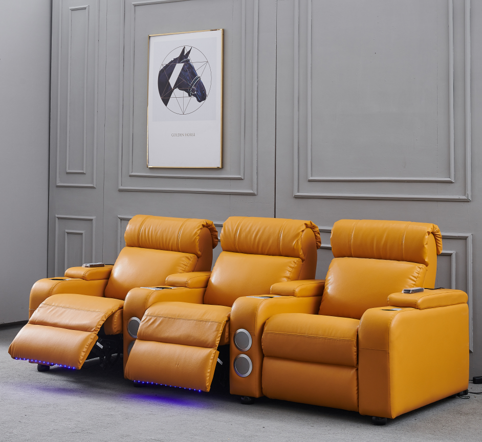 Nitaly Leather Electric Recliner Sofa