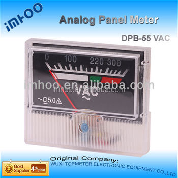 Small Analog Voltage Meter 3 Wires Totally-enclosed 0-100v Dc Bule ...