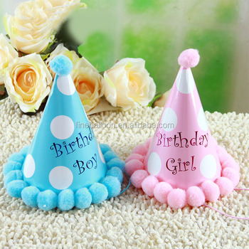Happy Birthday Hat Party Decoration Kids Gift Paper Cap Buy