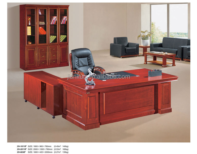 Executive Wooden Office Counter Table Design