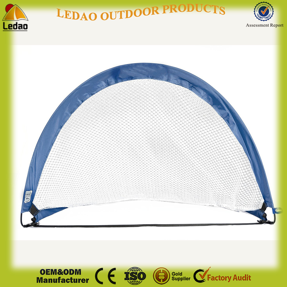 4 Foot Pop Up Soccer Goal | Portable Training Futsal Football Net | the Original Pickup Game Goal (2 Goals and Bag)