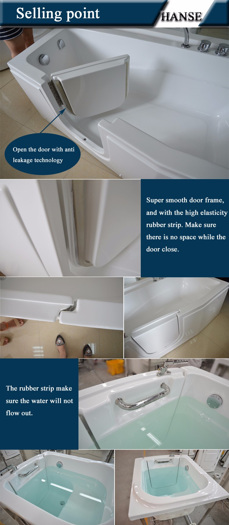 Hs 1109b handicap bathtub elderly walk in bathtub walk in - Handicap bathtub shower combo ...
