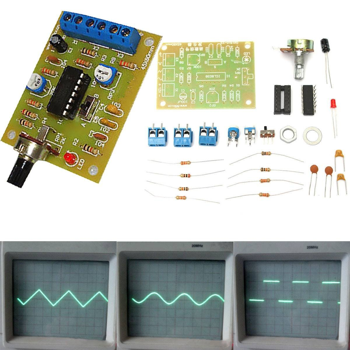Cheap 8038 Function Generator Find Deals On Electronic Circuits Get Quotations Insma Icl8038 Signal Module Sine Square Triangle Wave Output Sets