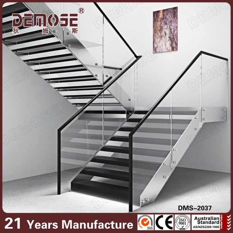 Modern House Loft Simple Gl Wood Stairs Automatic Led Stair Lighting Wall Light Outdoor