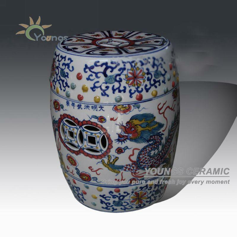 Antique Chinese Ceramic Garden Stools Antique Chinese Ceramic