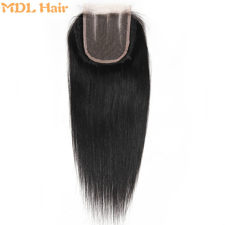 Wholesale Cheap Price Natural Color Virgin Brazilian Hair 4*4 Silky Straight Lace Closure