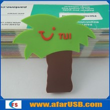 Factory product tree PVC usb flash drive, bulk 8gb custom logo usb stick for promotional gift