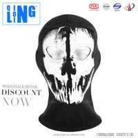 Cosplay Motorcycle Full Face Balaclava Mask or Ghost Skull Mask Black