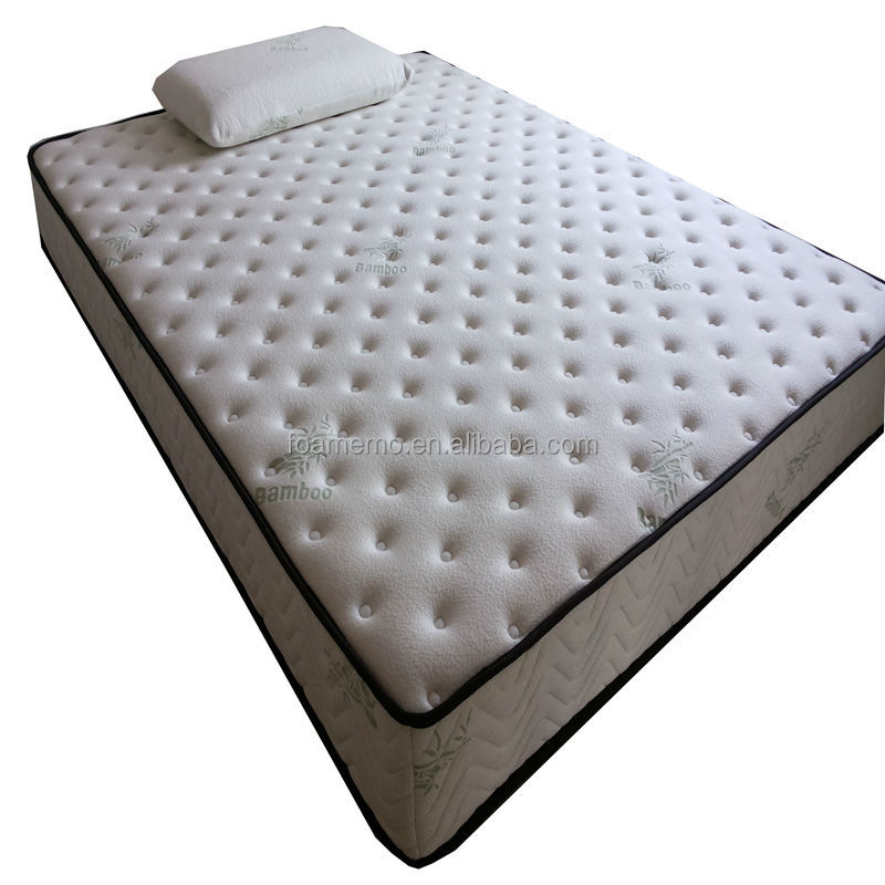 Roll Up Pocket Spring Mattress In A Box Buy Bamboo Pillow Top