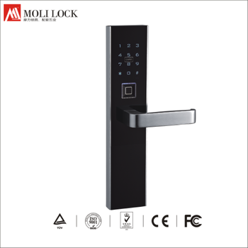 117c99 C Fingerprint Electronic Door Handles And Locks Wrought Iron Keyless Lock