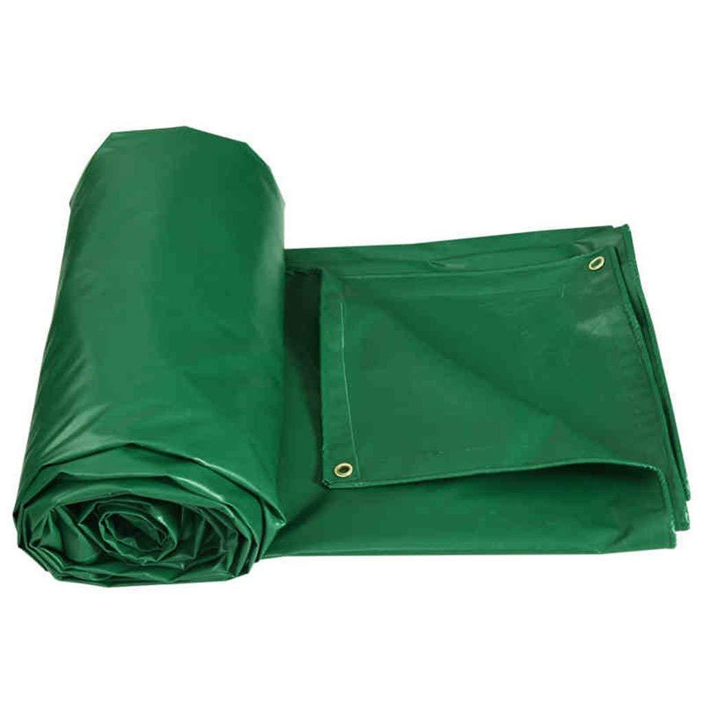 Tarpaulin sun protection cloth rain cloth insulation tarpaulin sunscreen tarpaulin outdoor canvas thickening tarpaulin tarpaulin vehicle tarpaulin ( Color : Green , Size : 22M )
